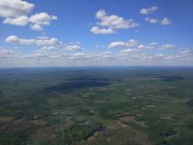 Sibirien från helikoptern Arkivbild
