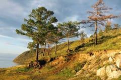 Sibirische Landschaft Foto gemacht nahe dem Baikalsee Stockfotos
