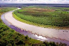 Sibirischer Fluss Lizenzfreie Stockbilder