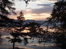 Sibirischer Sonnenuntergang Stockbild