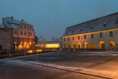 Sibiu, Ρουμανία - 27 Νοεμβρίου 2017: Πρώτο χιόνι στο Sibiu, Ρουμανία Στοκ Εικόνα