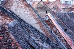 Sibiu - στέγες Στοκ Εικόνα