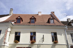 Sibiu, στις 16 Ιουνίου: Ιστορικό σπίτι από κεντρικός του Sibiu Ρουμανία Στοκ φωτογραφία με δικαίωμα ελεύθερης χρήσης