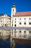 Sibiu - конематка Piata стоковое фото