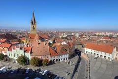 Sibiu-Antenne, Rumänien Stockfotografie