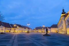 Sibiu at blue hour Royalty Free Stock Photo
