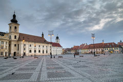 Sibiu at blue hour Royalty Free Stock Photography