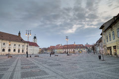 Sibiu at blue hour Stock Photo