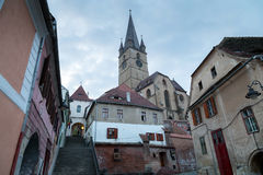 Sibiu at blue hour Royalty Free Stock Image