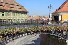 Sibiu bro Royaltyfri Fotografi