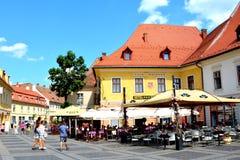Sibiu, capital europea de la cultura por el año 2007 Fotografía de archivo