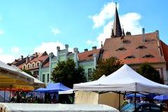 Sibiu, capital europea de la cultura por el año 2007 Fotos de archivo