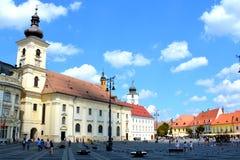 Sibiu, capital europea de la cultura por el año 2007 Foto de archivo