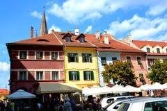 Sibiu, capital europea de la cultura por el año 2007 Fotografía de archivo libre de regalías