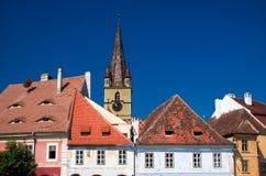Sibiu - catedral del Lutheran Fotografía de archivo libre de regalías