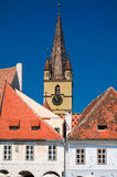 Sibiu - catedral del Lutheran Fotografía de archivo