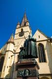 Sibiu - cattedrale del Lutheran Fotografia Stock