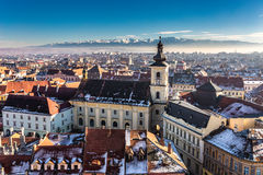 Sibiu, in the center of Transylvania, Romania. View from above Stock Photography