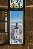 Sibiu, in the center of Transylvania, Romania. View from above Stock Image