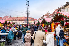 Sibiu Christmas market Royalty Free Stock Image