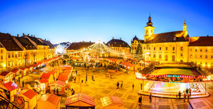 Sibiu Christmas Market, Romania Royalty Free Stock Images