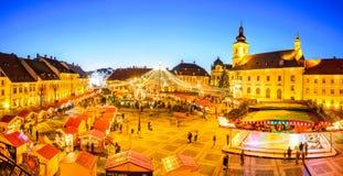Sibiu Christmas Market, Romania Stock Photography