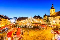 Sibiu Christmas Market, Romania Stock Images