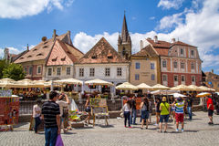 Sibiu city. Sibiu is one of the most important cultural centres of Romania and along with the city of Luxembourg, it was designated a European Capital of Culture Stock Images