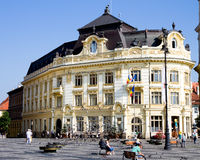 Sibiu cityhall stock photo