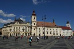 Sibiu cityhall Stock Photography