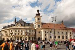 Sibiu cityhall Stock Image