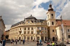 Sibiu cityhall Royalty Free Stock Photos