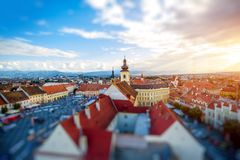 Sibiu cityscape view Stock Photography