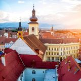 Sibiu cityscape view Stock Photo