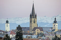 Sibiu cityscape Royalty Free Stock Image