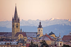 Sibiu cityscape Royalty Free Stock Photography