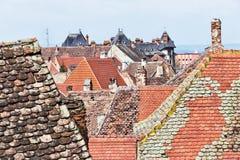 Sibiu dakenschouwspel Stock Afbeelding