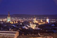 Sibiu desde arriba Imágenes de archivo libres de regalías