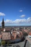 Sibiu en zijn oriëntatiepunten Stock Afbeelding