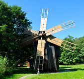 Sibiu ethno museum wind mill Royalty Free Stock Photo