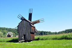 Sibiu ethno museum wind mill Royalty Free Stock Images