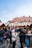 Sibiu Grand Square Christmas market Stock Photography