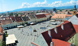 Sibiu Grand Square Royalty Free Stock Images