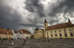 Sibiu Grand Square Stock Images