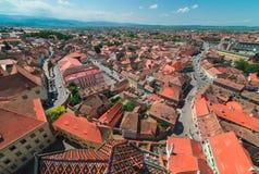 Sibiu Hermannstadt, Rumänien Arkivbild