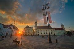 Sibiu Hermannstadt, Rumänien Royaltyfri Bild