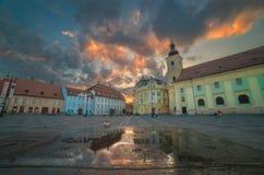 Sibiu, Hermannstadt, Rumania Imagen de archivo libre de regalías