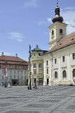 Sibiu,June 16:Catholic Church in Main Square from Sibiu Romania Royalty Free Stock Image