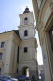 Sibiu,June 16:Catholic Church Tower from Sibiu Romania stock image