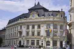 Sibiu,June 16:City Hall building from Downtown of Sibiu in Romania royalty free stock photo